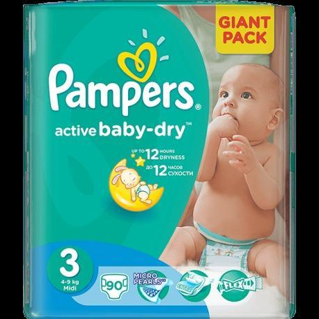 PAMPERS  GIANT  MIDI ACTIVE BABY